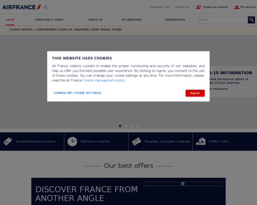 Online-Shop vonAir France