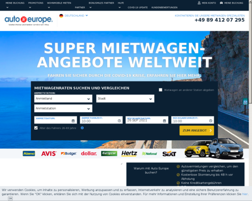 Online-Shop vonAuto Europe