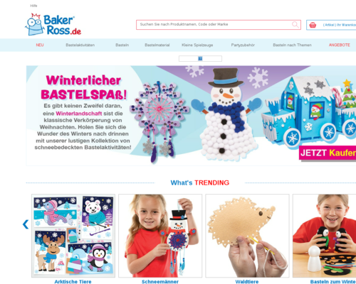 Online-Shop vonBaker Ross