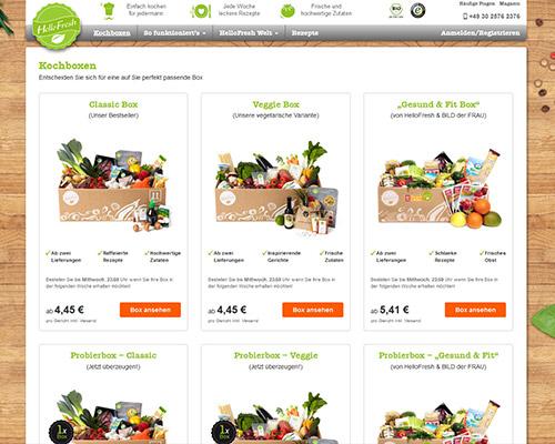 Online-Shop vonHelloFresh