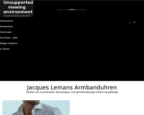 Online-Shop vonJacques Lemans