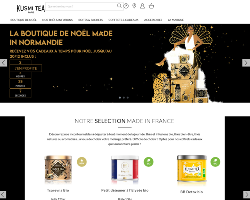 Online-Shop vonKusmi Tea