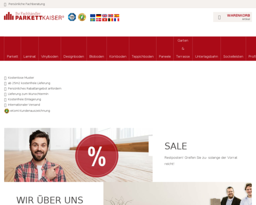 Online-Shop vonParkettkaiser