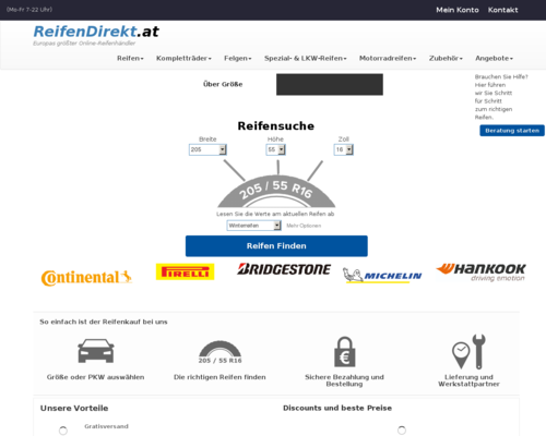 Online-Shop vonReifendirekt.at