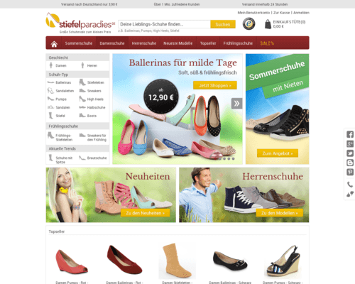 Online-Shop vonStiefelparadies
