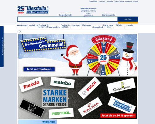 Online-Shop vonWestfalia